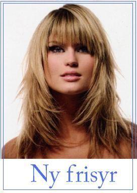 halvlångt hår med lugg