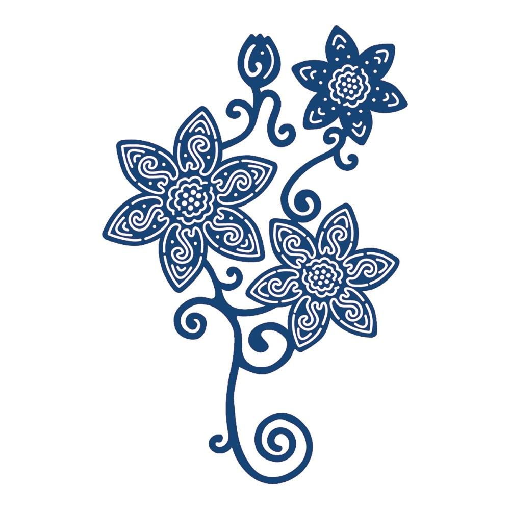 Tattered Lace Daisy Flourish die. Tattered Lace Daisy Flourish die   Die Cuts   Tattered Lace