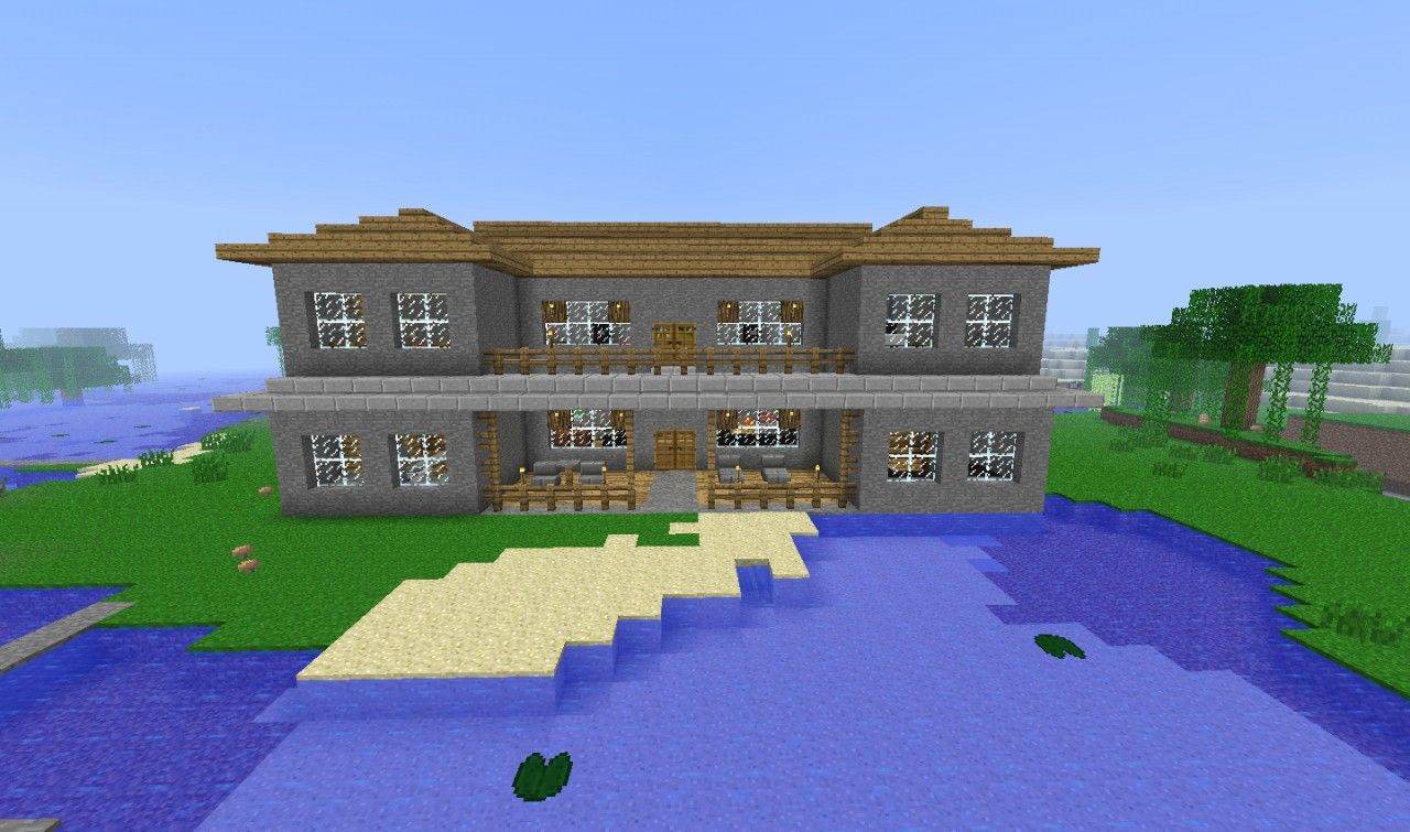 Stone Mansion Minecraft Map Mansions Stone Mansion Minecraft Projects