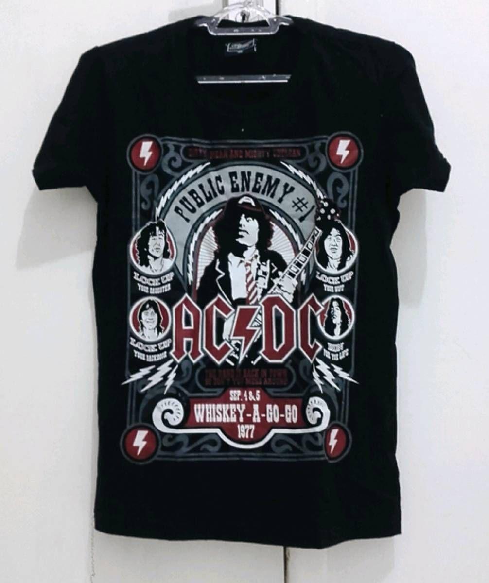 Babylook camiseta Ac dc - 14795657  243f731d77020