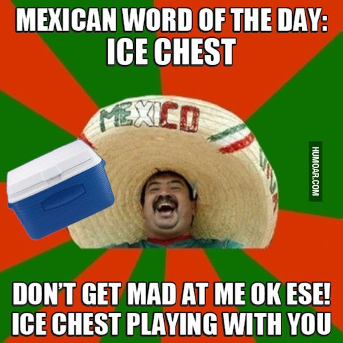 Funny Meme Mexican : Mexican word of the day ice chest humor pinterest