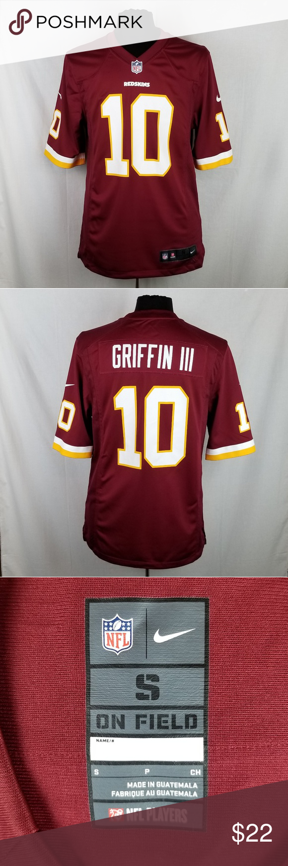 innovative design 97168 b4bd7 Nike On Field RG3 Jersey Men's S Robert Griffin 3 Washington ...