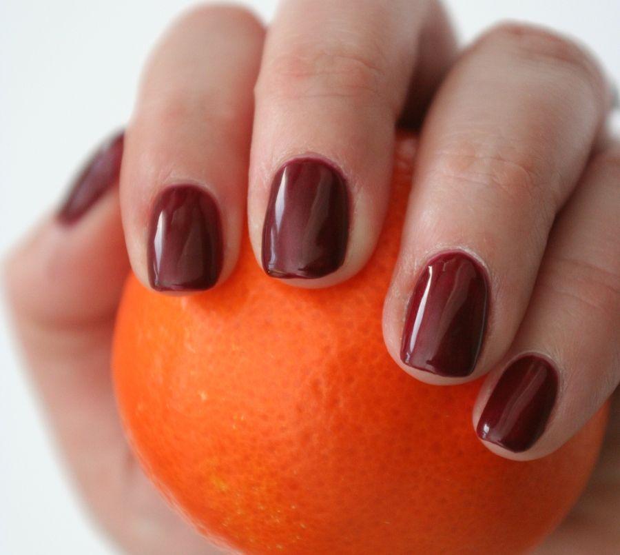 Love darker shades on shorter nails.