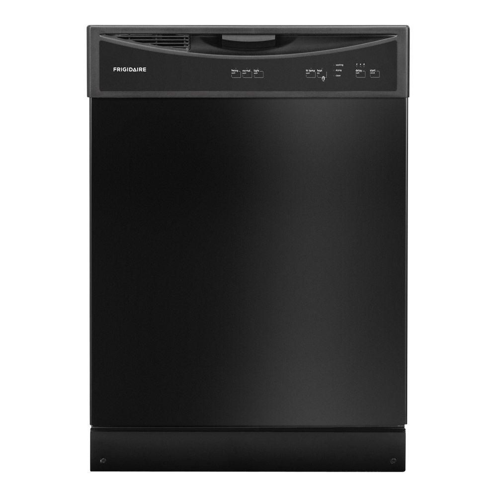 Frigidaire Front Control Tall Tub Dishwasher In Black Ffbd2406nb The Home Depot Built In Dishwasher Black Dishwasher Frigidaire