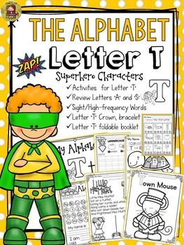 The Alphabet 'T' booklet features interactive activities for the letter 'T'. Students get to compile all activities in a booklet to take home.  https://www.teacherspayteachers.com/Product/PHONICS-THE-ALPHABET-LETTER-T-2370516