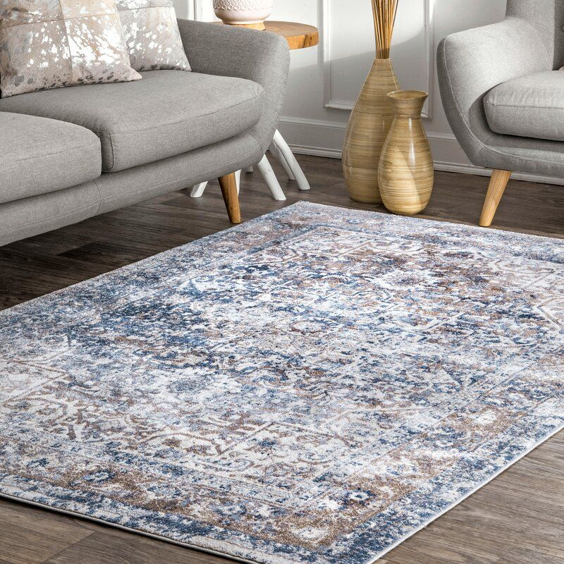 Keener Blue White Area Rug In 2020 Area Rugs White Area Rug Vintage Area Rugs