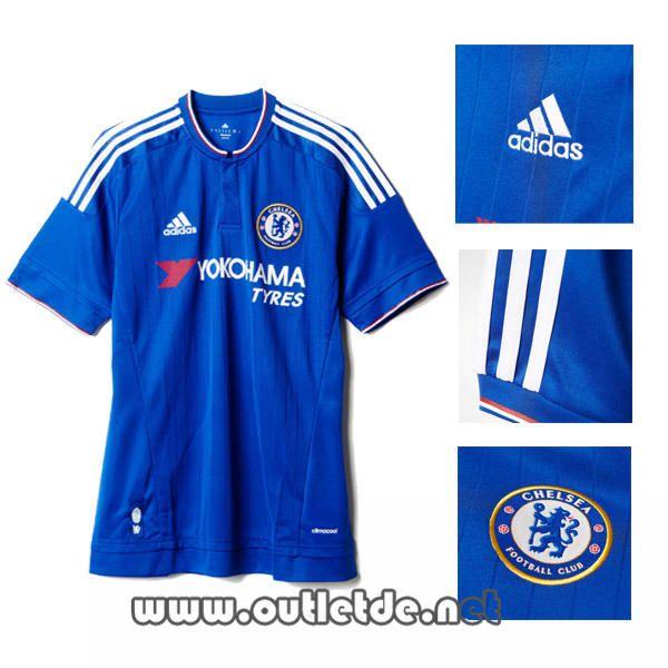 Nouveau maillot chelsea 2016 Domicile manche courte bleu chelsea store
