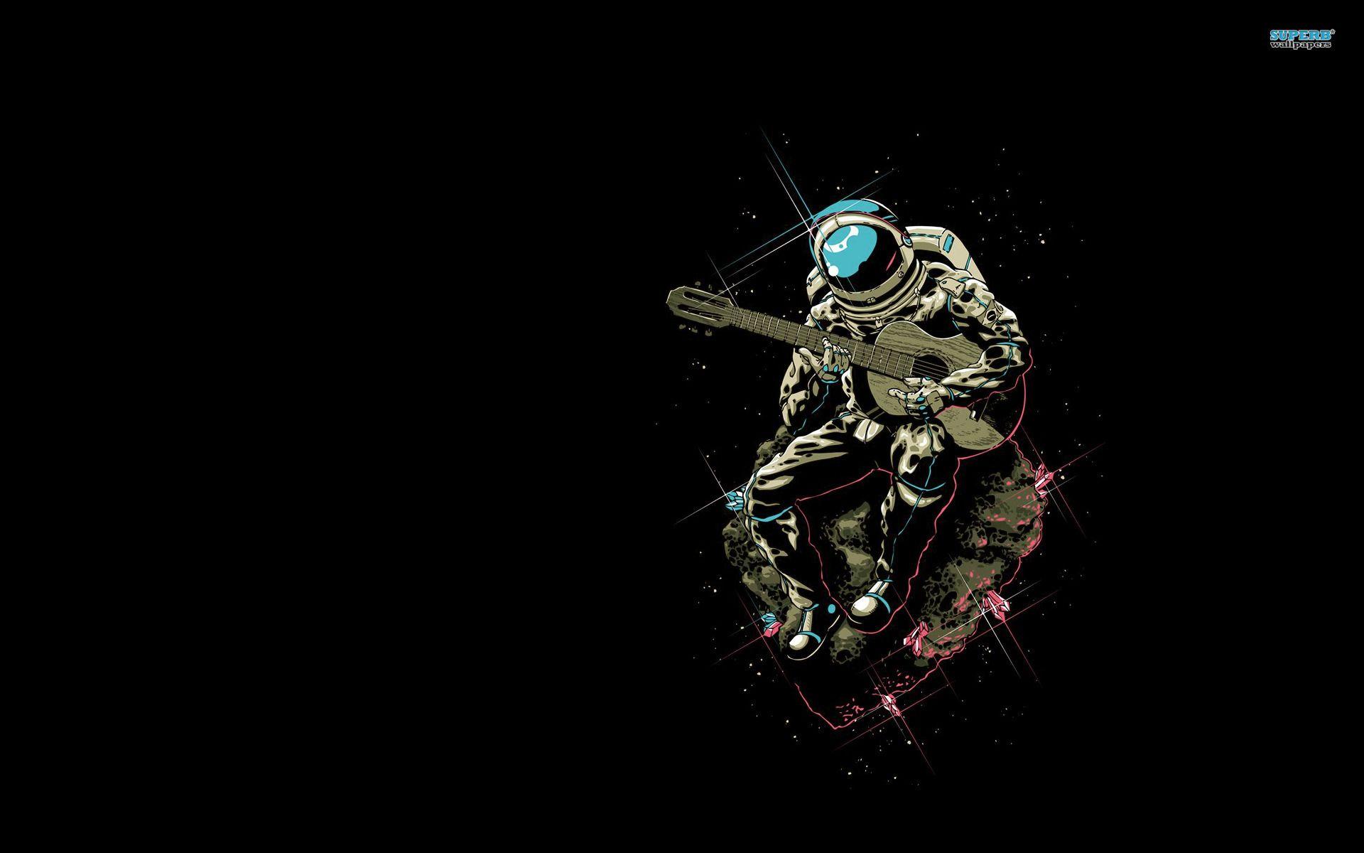 Guitarist astronaut wallpaper Astronaut wallpaper