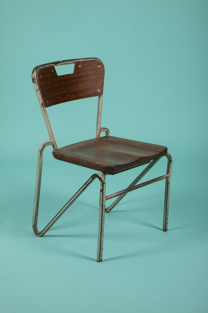 1 X Vintage Mid Century English Cox Childrens Old School Chairs Elm 4  Available
