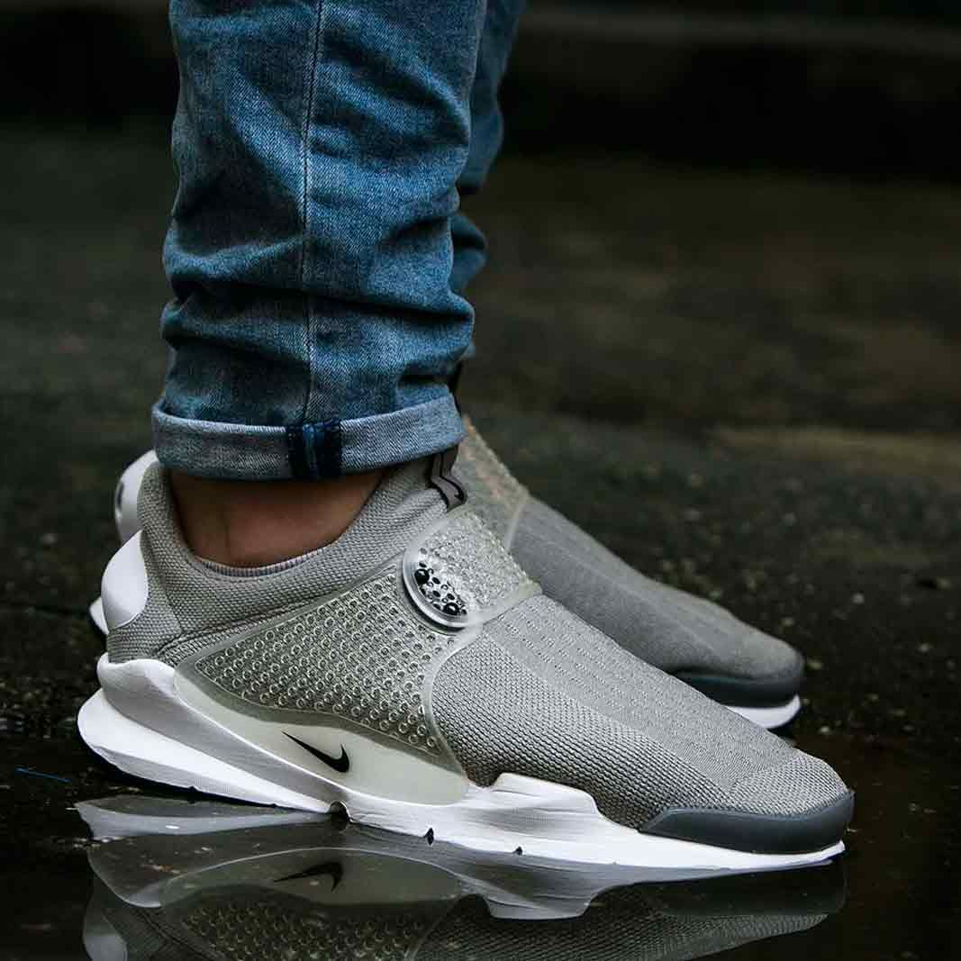 Nike Sock Dart Medium Grey On Feet Sneakers Culture