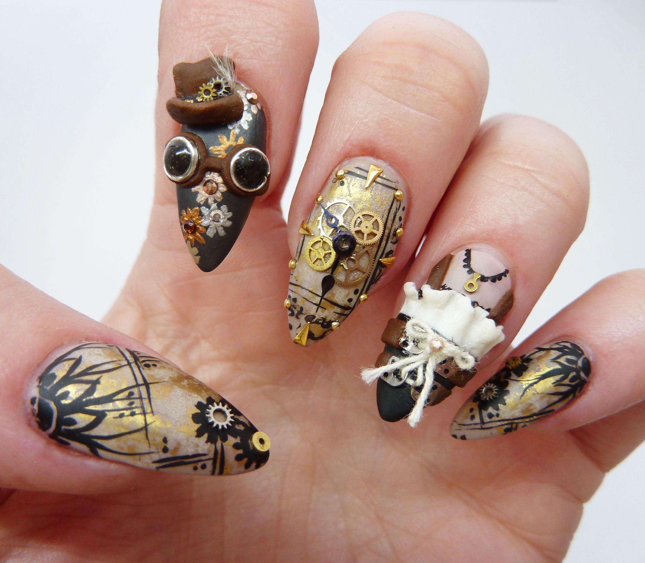 Simone | Top nail, Nails magazine and Steampunk nails
