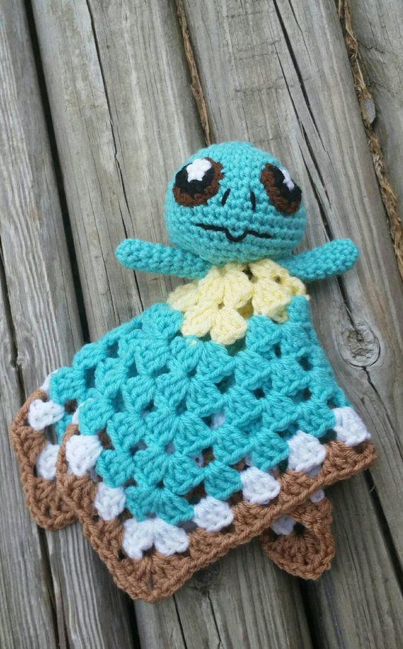 Squirtle crochet lovey doll/team mystic/team valor/team instinct ...