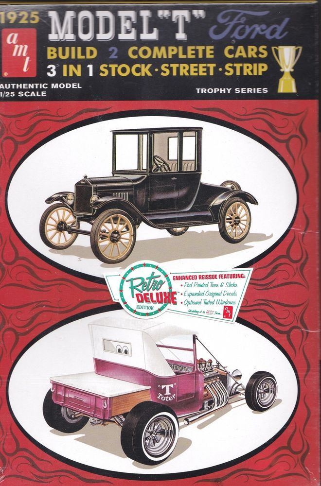 T Ford Amt 670 12 1925 Model Plastic Model Kit Plastic Model