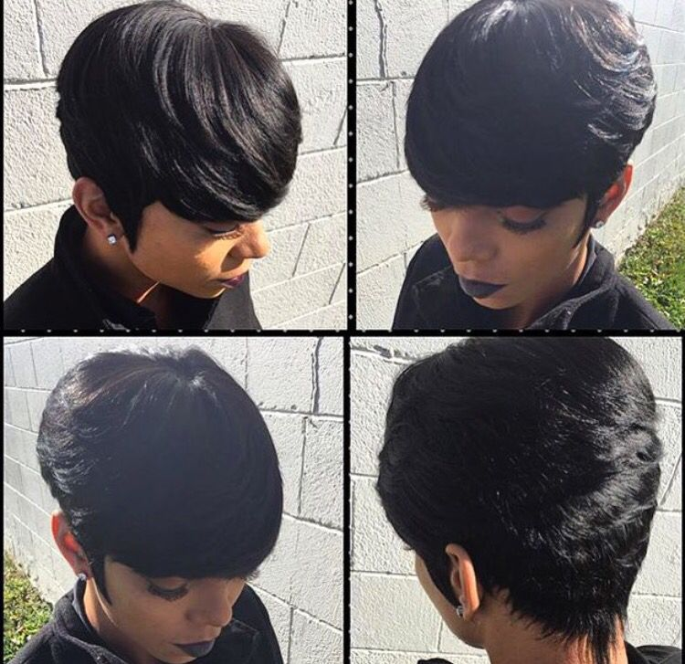 Pin By Rickya Watson On Hair Connoisseur Short Hair Styles Short Weave Hairstyles Quick Weave Hairstyles