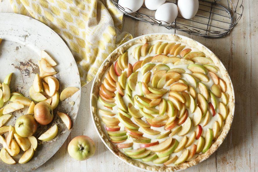 Kodin Kuvalehti – Blogit | Ruususuu ja Huvikumpu – Helppo ja kaunis omenapiirakka hurmaa- turkkilainen jogurtti ja tuorejuusto pehmentävät makua