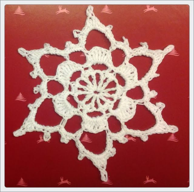 Leise rieselt der Schnee - another crochet snowflake, Diagramm and ...
