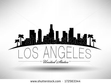 Modern Los Angeles City Skyline Design Skyline Drawing Skyline Tattoo Skyline Design