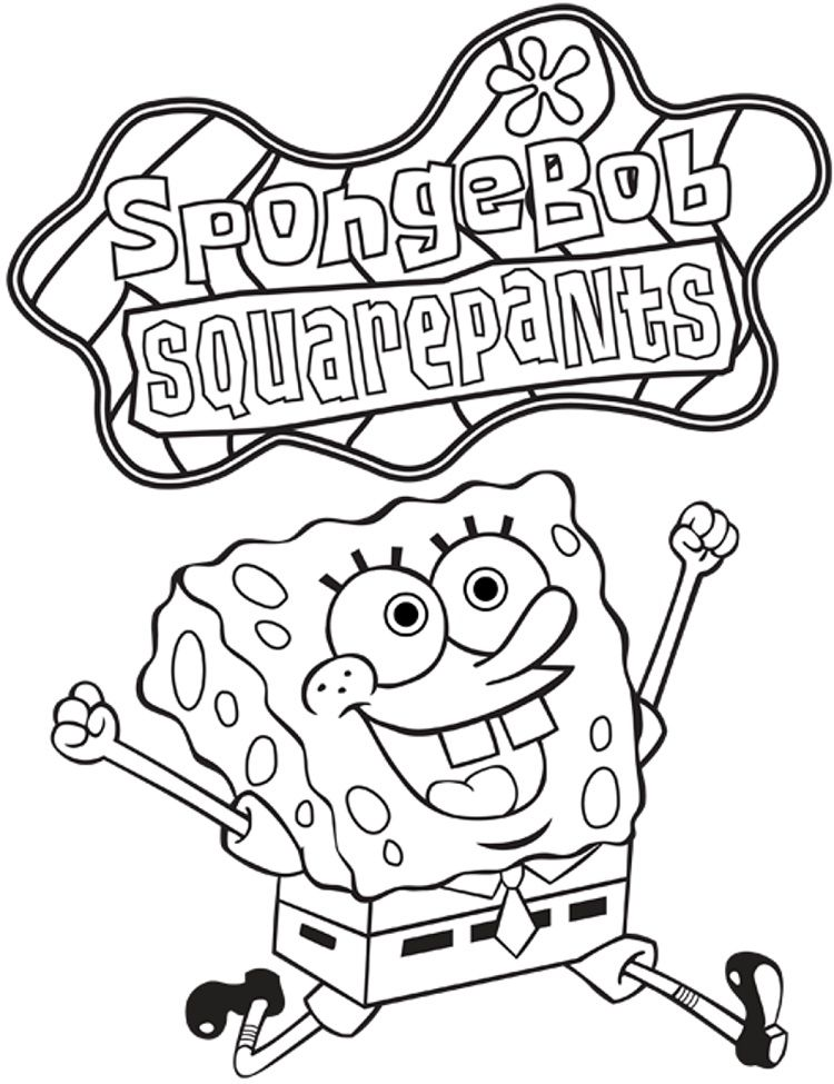 spongebob coloring pages nickelodeon in 2019 | Cartoon ...