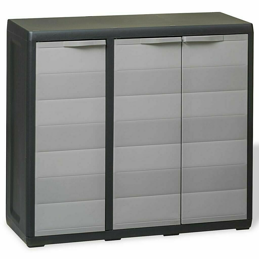Outdoor Garden Storage Shed Garden Plastic Cupboard Cabinet 2