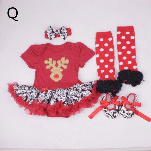 Xmas Baby Girl Infant Clothing Sets