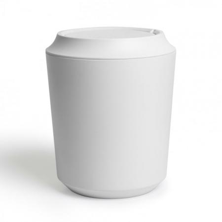 Howards Storage World Corsa Waste Bin With Lid White Bathroom Trash Can Bathroom Waste Bins Trash Can
