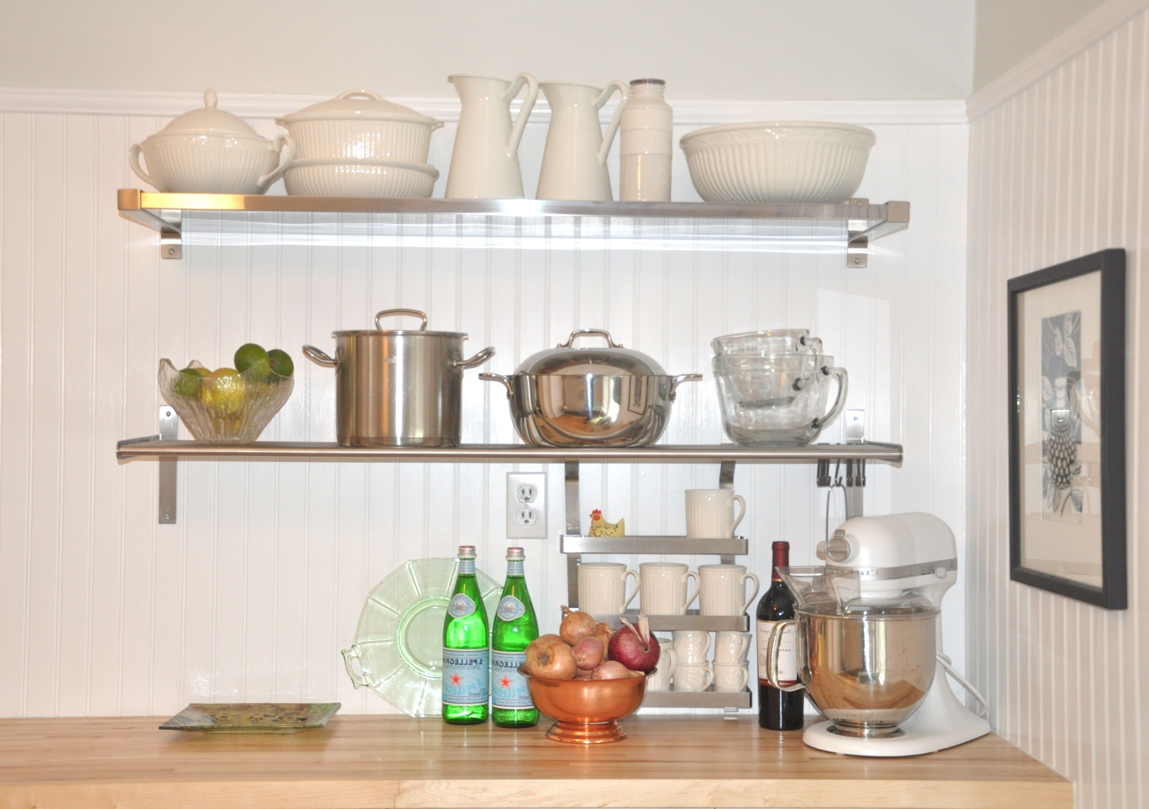 Floating shelves kitchen  Wall Decoration  Stainless Steel Floating Shelves Throughout