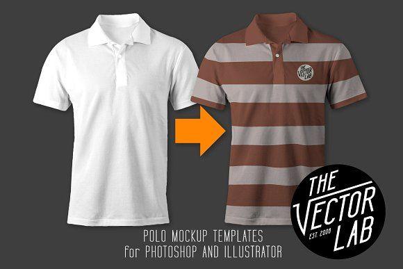 Download Men S Polo Shirt Mockup Templates Kaos Mockup