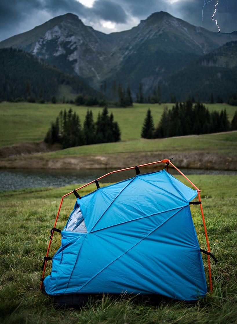 Industrial designer Kama Jania created a line of tents that will protect you if you find & Tent With Lightning Strike Protection | Tents Industrial and ...