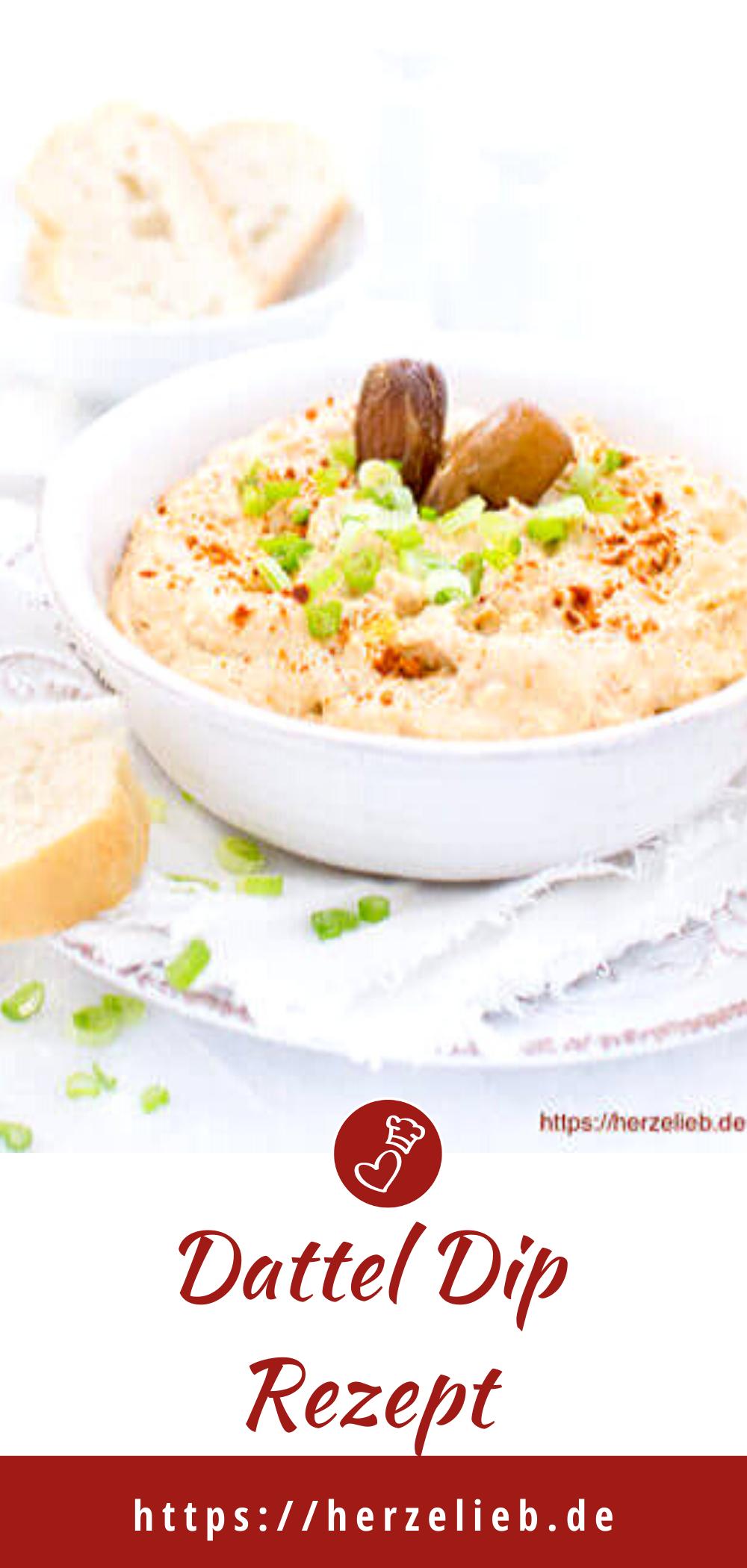 Datteldip Rezept von herzelieb - ist schnell gemacht! Dattel Dip auf Brot, zu Gemüse, zum Grillen