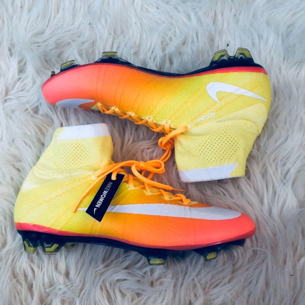 Nike Mercurial Superfly Cleats Women s Soccer Shoes Yellow Orange White Size  10  Nike c5daf7fea4