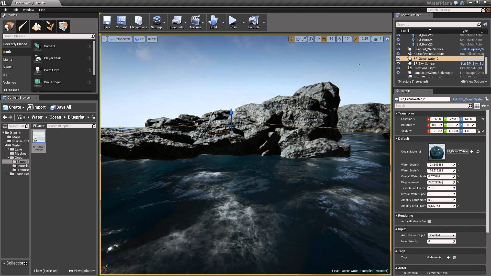 Water Surface Overview in UE4 | Unreal Engine 4 Tutorials | Unreal