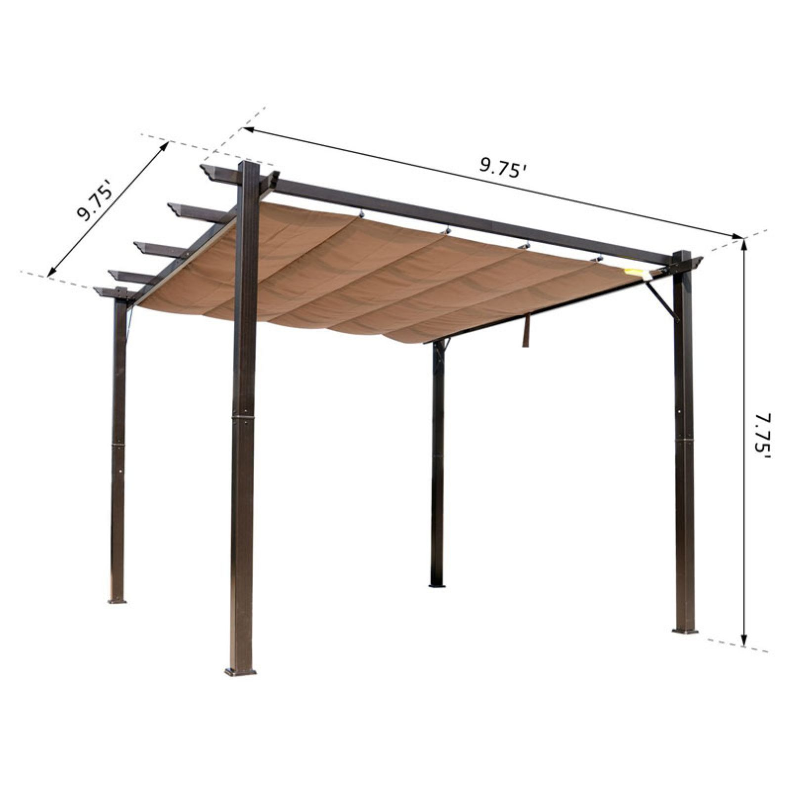 Outsunny 10 X 10 Steel Outdoor Pergola Gazebo Backyard Canopy Cover Walmart Com Outdoor Pergola Canopy Cover Backyard Canopy