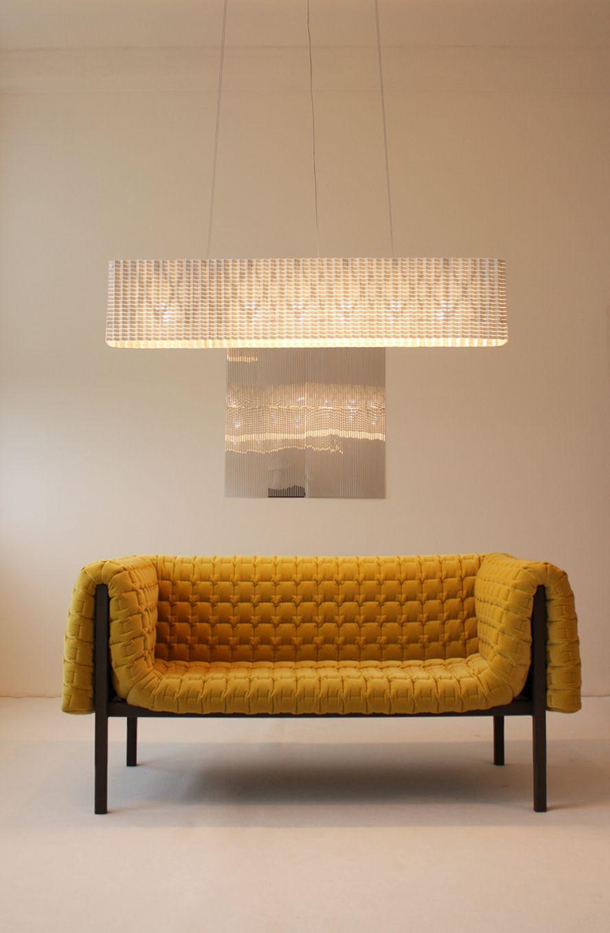 Plissé, the expandable lamp by Inga Sempe