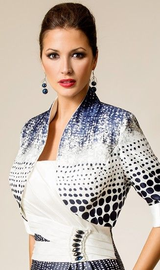 Detail Of Mother The Bride Style 3017911 By Zeila With Matching Bolero