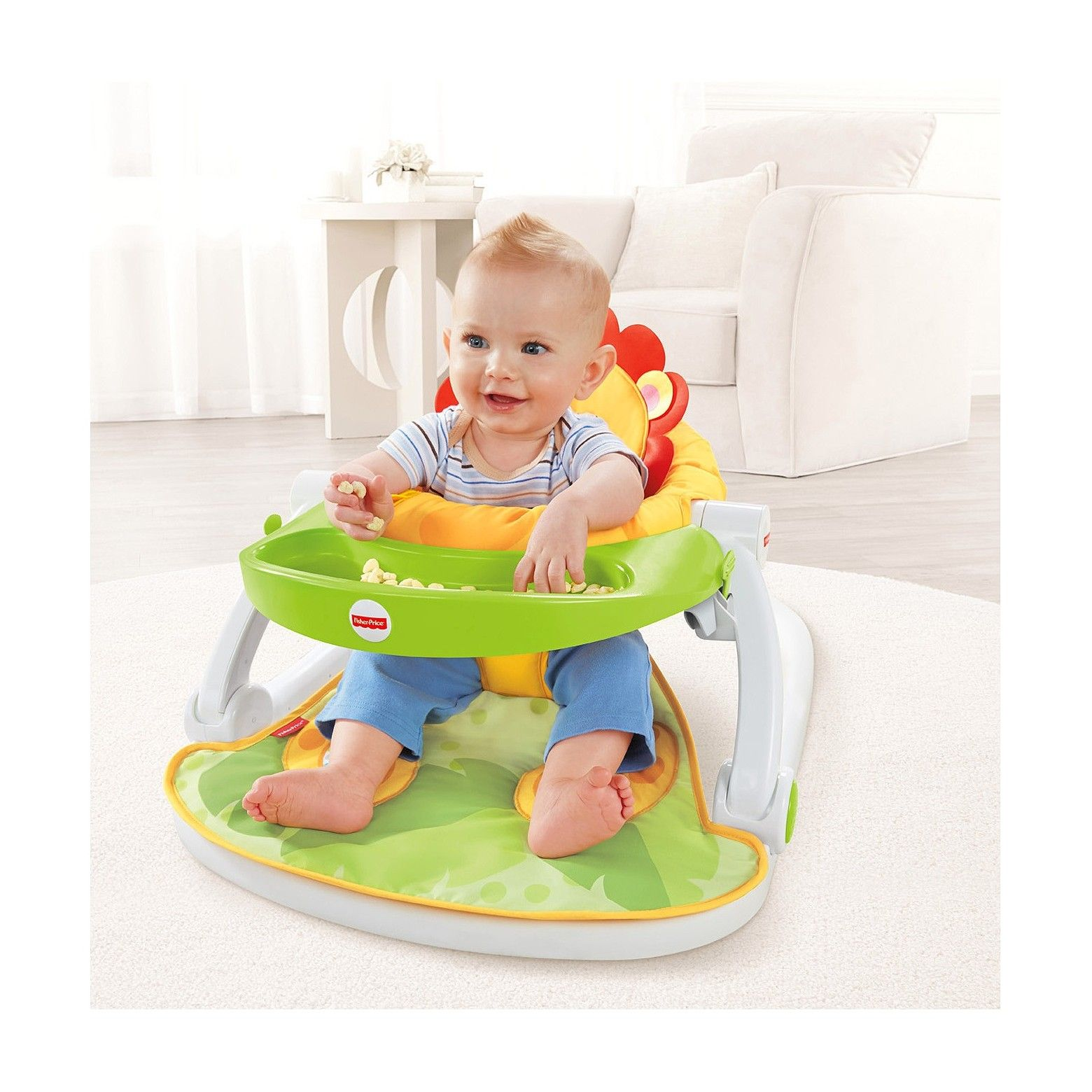 2024f544d Fisher-Price Sit-Me-Up Floor Seat with Tray