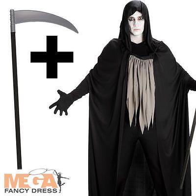 grim reaper scythe mens fancy dress adults death horror halloween costume ne - Halloween Costume Death