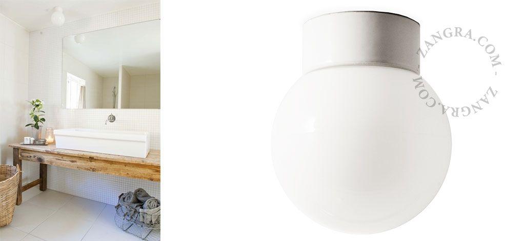 Zangra Bath Lights Waterproof Porcelain Fixture Scandinavian