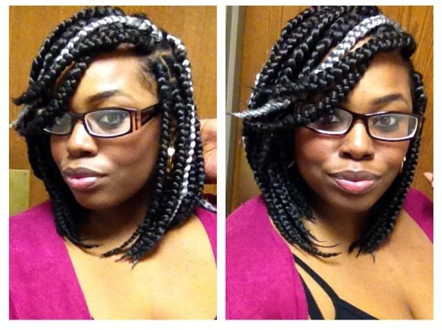 Box Braid Bob I Am In Love With The Silver White Gray