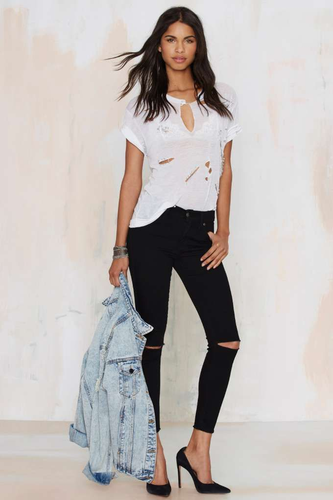 High Waisted Cropped Skinny Jeans - Xtellar Jeans