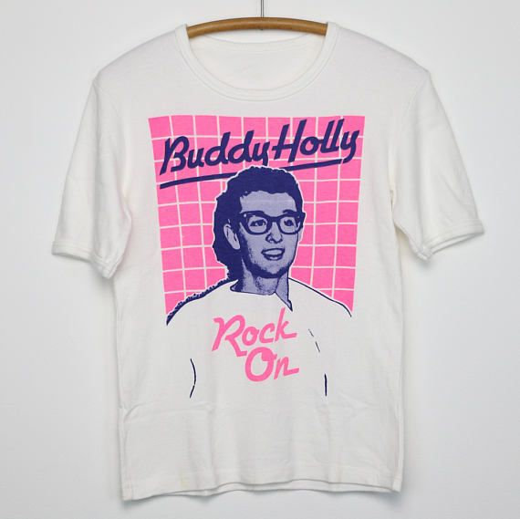 39271935d Buddy Holly Shirt Vintage tshirt 1970s Rock On American Country Music  Musician Rock And Roll Legend