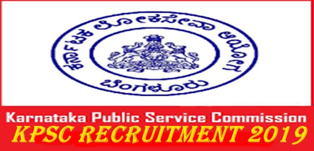 Kpsc Si Recruitment 2019 Recruitment Services Recruitment Apply Online