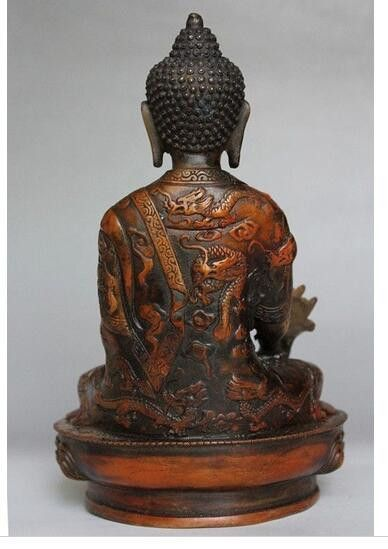 Brass Buddhism Bodhisattva Statue