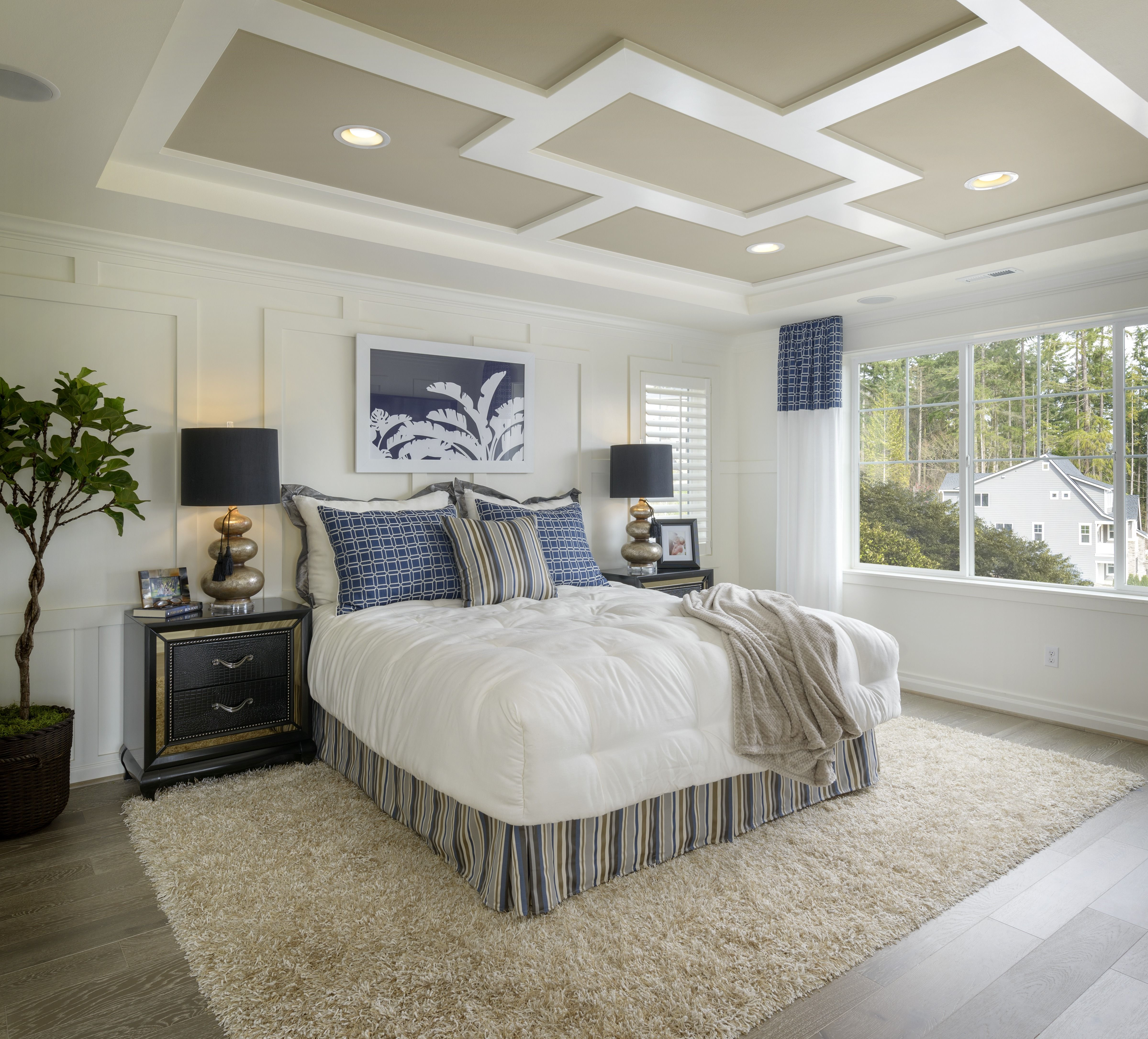 Master Bedroom Tray Ceiling Designs: A Peaceful Master Bedroom. (Toll Brothers At Parkhurst, WA