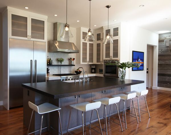 Modern Beach House Kitchen Mitchel Berman Cabinetmakers Inc