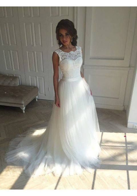 Robe De Mariage Quality Bridal Gown Directly From China Beach Wedding Dress Suppliers Dresses 2017 New Scoop Neck Lace
