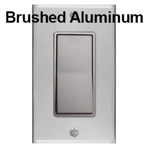 Brushed Aluminum Plates With Nickel Switches Switches Electrical Outlets Light Switch