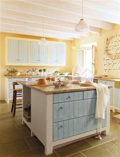 Color in a farmhouse kitchen