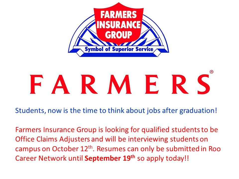 Farmeru0027s Insurance Group- Log in to Roo Career Network to apply - allstate claims adjuster sample resume