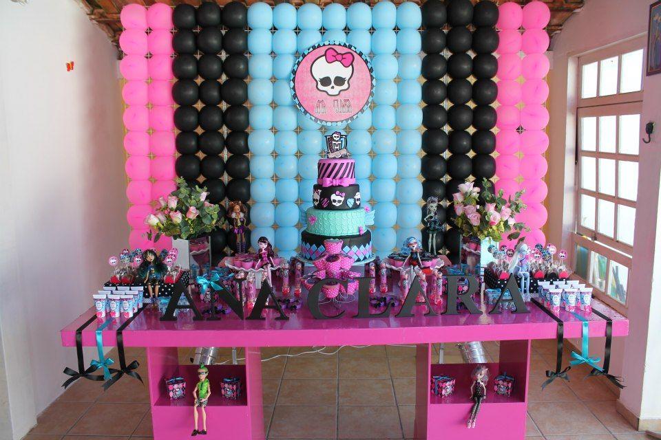 Decoracao De Festa Com Monster High Festa Monster High