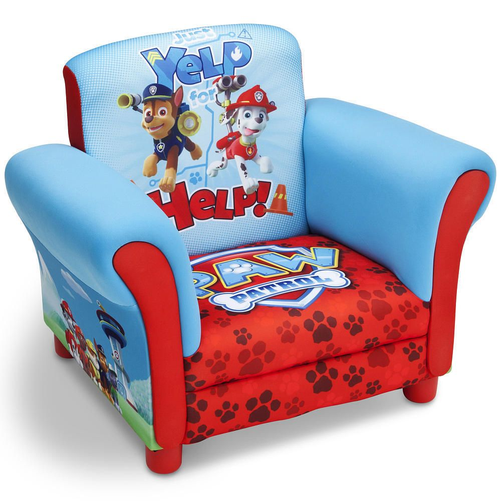 Paw Patrol Chair Upholstered Kids Bedroom Toddler Furniture Dogs Deep Seated NEW #NickJr